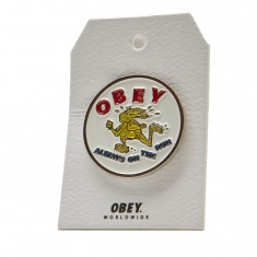 Obey Always On The Run Pin - White
