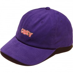 Obey Ripped 6 Panel Snapback Hat - Purple