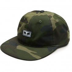 Obey Overthrow 6 Panel Snapback Hat - Camo