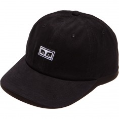 Obey Subversion 6 Panel Snapback Hat - Black