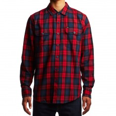 Obey Norwich Woven Shirt - Red/Multi