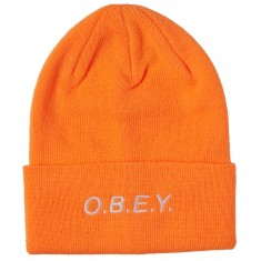 Obey Alert Beanie - Bright Orange