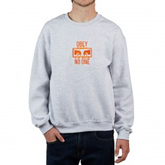 Obey No One Crew Sweatshirt - Ash Grey