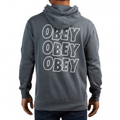 Obey Jumble Lo Fi Hoodie - Dusty Black