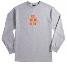 Obey No One Longsleeve T-Shirt - Heather Grey
