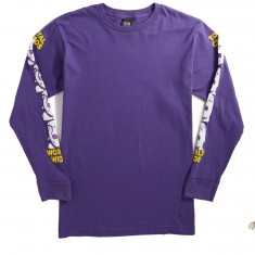 Obey Total Chaos Longsleeve T-Shirt - Purple