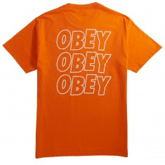 Obey Jumble Lo Fi T-Shirt - Orange