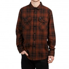 Obey Knuckle Longsleeve Shirt - Rust Multi