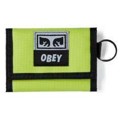 Obey Drop Out Tri Fold Wallet - Saftey Green