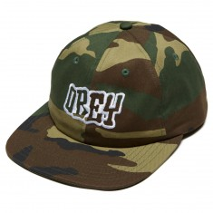 Obey Runnin 6 Panel Hat - Field Camo