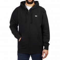 Obey Jumble Lo-Fi Zip Up Hoodie - Black
