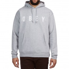 Obey Anyway Hoodie - Heather Grey/White