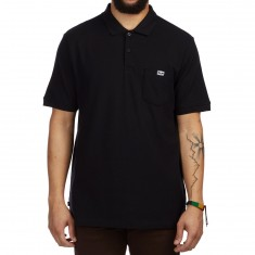 Obey All Eyez Polo Shirt - Black