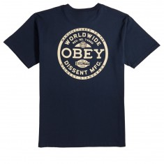 Obey Dissent Standards T-Shirt - Navy