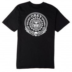 Obey Skull And Wings T-Shirt - Black