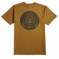 Obey Skull And Wings T-Shirt - Tapenade
