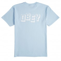 Obey Jumbler Obey T-Shirt - Powder Blue
