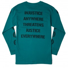 Obey Civil Disobedience Long Sleeve T-Shirt - Teal