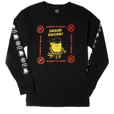 Obey Smash Racism Long Sleeve T-Shirt - Black