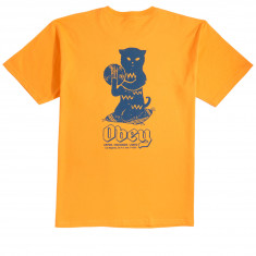 Obey Cuts And Scratches T-Shirt - Gold