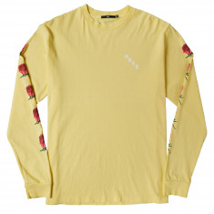 Obey Airbrushed Rose Long Sleeve T-Shirt - Dusty Lemon