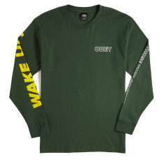 Obey Fight Those That Control Long Sleeve T-Shirt - Forest Green