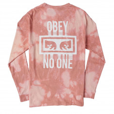 Obey No One Long Sleeve T-Shirt - Rose
