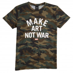 Obey Womens Make Art Not War T-Shirt - Camo