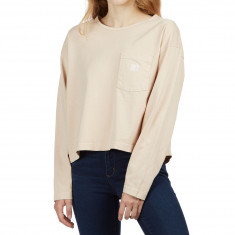 Obey Womens Proof Type 2 Long Sleeve Pocket T-Shirt - Beige