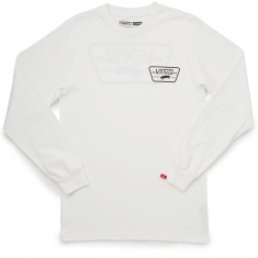 Vans Full Patch Back Long Sleeve T-Shirt - White
