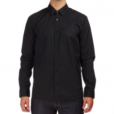 Volcom Everett Solid Long Sleeve Shirt - Black
