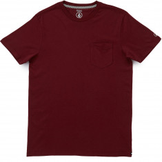 Volcom Solid Pocket T-Shirt - Merlot
