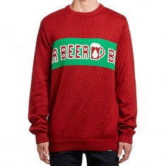 Volcom Stranger Brew Sweater - Blood Red
