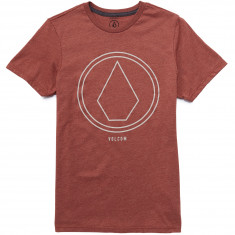 Volcom Pin Line Stone T-Shirt - Dark Clay Heather