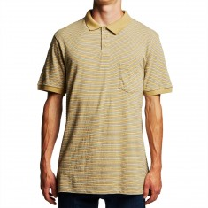 Volcom Wowzer Stripe Polo Shirt - Almond