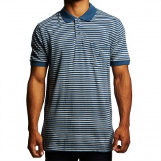 Volcom Wowzer Stripe Polo Shirt - Smokey Blue