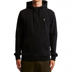 Volcom Single Stone Zip Basic Hoodie - Black