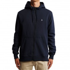 Volcom Single Stone Zip Hoodie - Navy