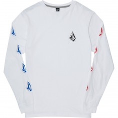 Volcom Deadly Stone Long Sleeve T-Shirt - White Combo