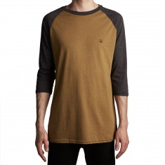 Volcom Solid Heather 3/4 Raglan Shirt - Light Army