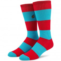 Volcom X Burger Socks - True Red