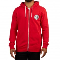 Volcom X Burger Zip Hoodie - True Red