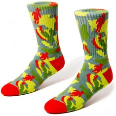 Girl Jungle Socks - Red