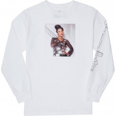 Chocolate La Reina Longsleeve T-Shirt - White