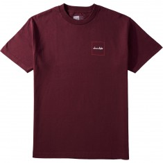 Chocolate Squared T-Shirt - Burgundy