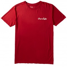 Chocolate Performance Chunk T-Shirt - Red