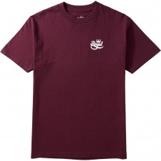 Royal Mini Script T-Shirt - Burgundy
