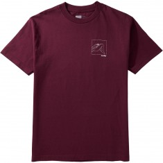 Chocolate Modern Love T-Shirt - Burgundy