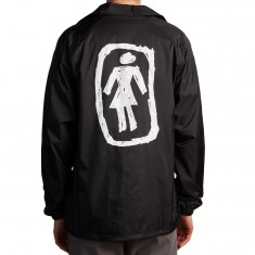 Girl Sketchy OG Coaches Jacket - Black