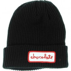 Chocolate Chunk Fold Beanie - Black